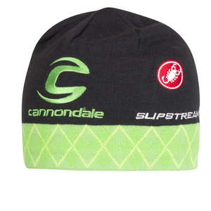 Castelli Cannondale Pro Cycling Team Team Tuque Beanie - Black/Green