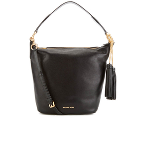 MICHAEL MICHAEL KORS Elana Large Tassel Shoulder Bag - Black