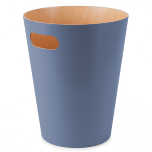 Umbra Woodrow Waste Can - Mist Blue