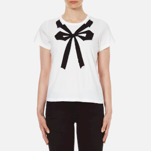 Marc Jacobs Women's Small Folded Bow Tee - White