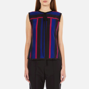 Marc Jacobs Women's Sleeveless Top With Tie - Blue Multi