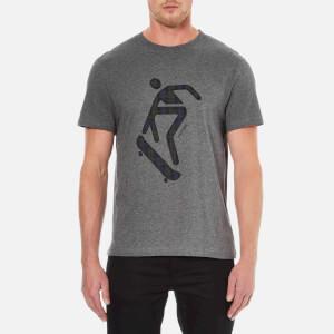 Carven Men's Skateboard Print Short Sleeve T-Shirt - Gris Chine Fonce
