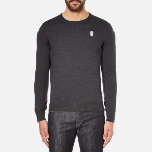 Carven Men's Small Logo Jumper - Gris Chine