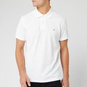GANT Men's Original Pique Polo Shirt - White