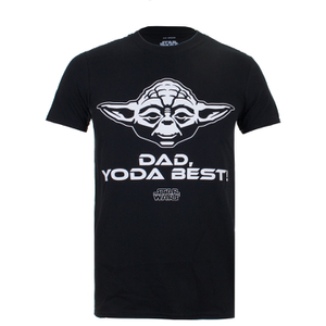 T-Shirt Homme Star Wars Yoda Best Dad - Noir