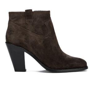 Ash Women's Ivana Suede Heeled Ankle Boots - Bistro