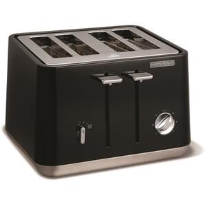 Morphy Richards 240002 Aspect Steel 4 Slice Toaster - Black
