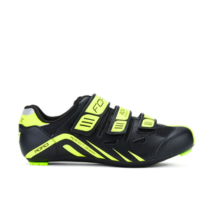 Force Road Cycling Shoes - Black/Fluro