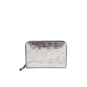 McQ Alexander McQueen Women's Travel Wallet - Light Gunmetal