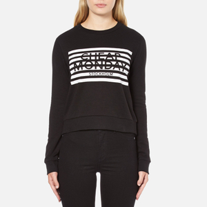 Cheap Monday Women's Win Stripe Logo Sweatshirt - Black