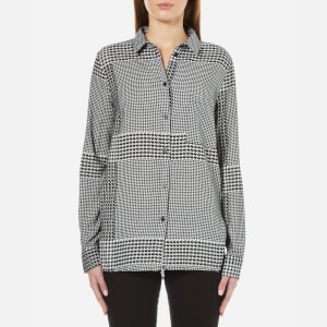 Cheap Monday Women's Try Prince Check Shirt - Off White