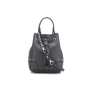 Furla Women's Stacy Rock Mini Drawstring Bag - Black