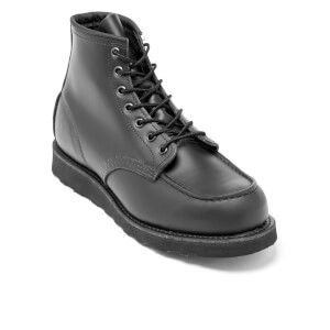Red Wing Men's 6 Inch Moc Toe Leather Lace Up Boots - Black Chrome: Image 2