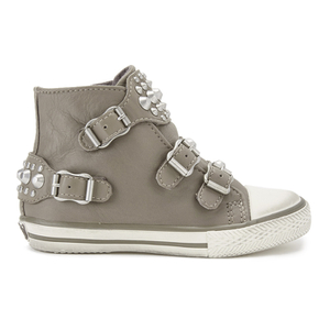 Ash Kids' Frog Leather Buckle Hi Top Trainers - Perkish