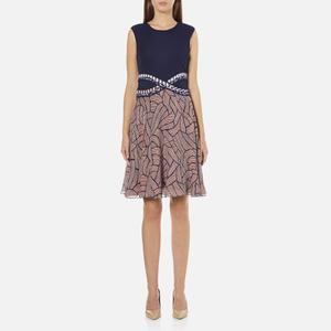 Diane von Furstenberg Women's Rosalie Dress - Midnight/Brown