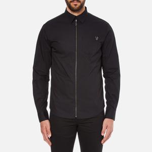 Versace Jeans Men's V Logo Long Sleeve Shirt - Black