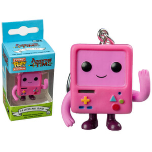 Adventure Time Blushing Pink BMO Pop! Keychain