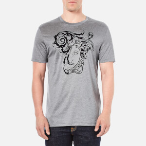 Versace Collection Men's Printed T-Shirt - Grey