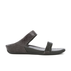 FitFlop Women's Banda Crystal Imi-Snake Slide Sandals - Black