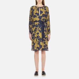 Gestuz Women's Audra Tunic Printed Dress - Golden Palm/Blue-Black
