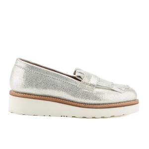 Grenson Women's Juno Sparkle Frill Loafers - Silver