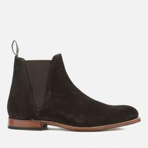 Grenson Men's Nolan Suede Chelsea Boots - Chocolate