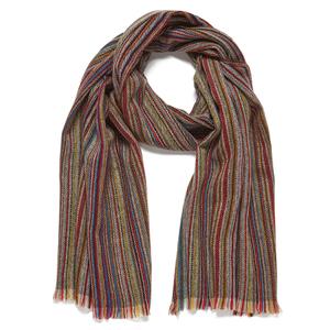 Paul Smith Accessories Men's Stripe Herringbone Scarf - Multi
