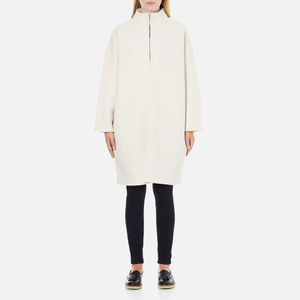 PS by Paul Smith Women's Boiled Wool Cardigan - Cream