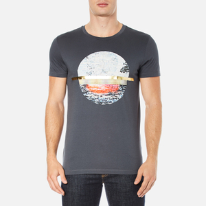 BOSS Orange Men's Taye 3 Printed T-Shirt - Navy