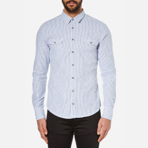 BOSS Orange Men's Edoslime Long Sleeve Shirt - Aqua
