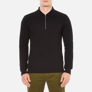 GANT Rugger Men's Zipped Pique Polo Shirt - Black