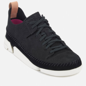 Clarks Originals Women's Trigenic Nubuck Suede Trainers - Black: Image 2