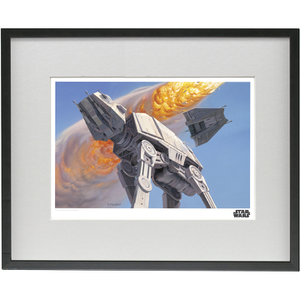 EXCLUSIVE Star Wars Ralph McQuarrie Framed Illustrated Art Print (16x12 Inches) (Limited Edition)