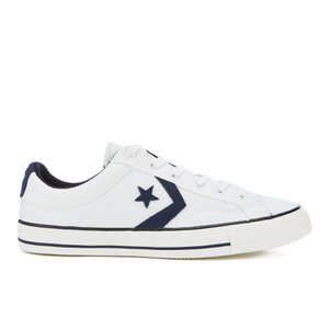 Converse CONS Men's Star Player Canvas Ox Trainers - White/Obsidian/Black