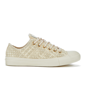 Converse Chuck Taylor All Star Denim Woven Ox Trainers - Parchment/Angora/Parchment