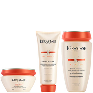 Nutritive Fondant Magistral 200 ml, Nutritive Bain Magistral 250 ml y Nutritive Masque Magistral 200 ml de Kérastase