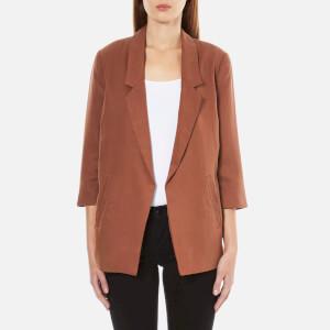 Selected Femme Women's Gavina 3/4 Sleeve Blazer - Rustic Brown