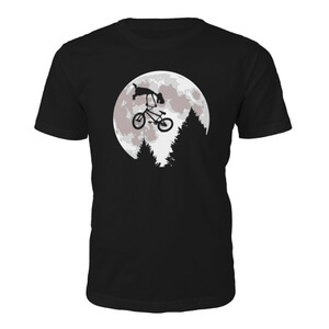 Tee Junkie Mens Alien Moon T-Shirt - Black