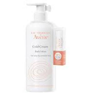Avene Cold Cream Body Lotion and Lip Balm