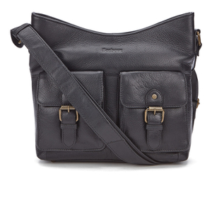 Barbour Women's Slateford Leather Shoulder Bag - Black