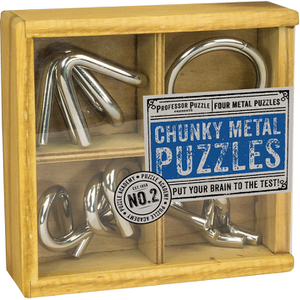 Professor Puzzle Chunky Metal Puzzles