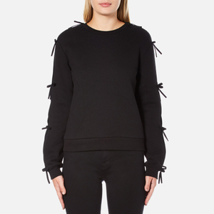 Sportmax Women's Zeda Bow Sleeve Sweatshirt - Black