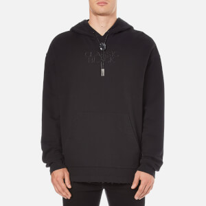 Alexander Wang Men's Long Sleeve Bolo Neck Hoody - Black