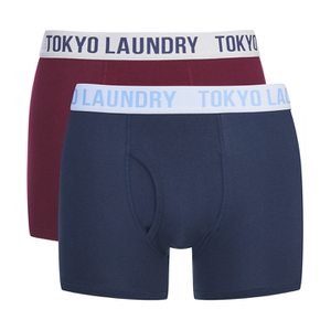 Tokyo Laundry Men's 2-Pack Cairns Boxers - Oxblood RP/Vintage Indigo
