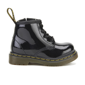 Dr. Martens Toddlers' Brooklee B Patent Lamper Lace Up Boots - Black