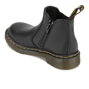 Dr. Martens Kids' 2976 J Softy T Leather Chelsea Boots - Black: Image 4