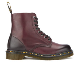 Dr. Martens Men's Pascal Antique Temperley 8-Eye Boots - Cherry Red