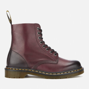Dr. Martens Men's 1460 Pascal Antique Temperley Leather 8-Eye Boots - Cherry Red