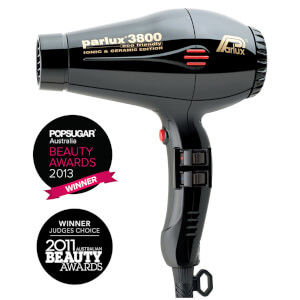 Parlux 3800 Ceramic and Ionic Dryer 2100W - Black