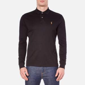 Polo Ralph Lauren Men's Long Sleeve Custom Fit Polo Shirt - Polo Black